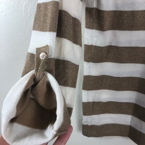 J. Crew Sweaters - J. Crew Gold and White Striped Sweater